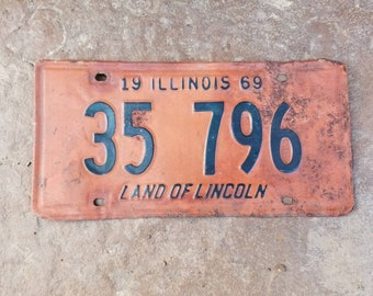 Old Illinois Licence Plate - 1969