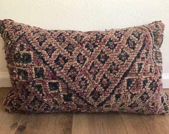 Moroccan Boujad Pillow, Rug Pillow, Moroccan Pillow