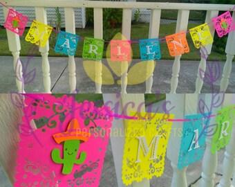 Fiesta name banner , fiesta party banner, name banner, fiesta birthday