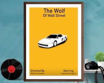 The Wolf of Wall Street Minimalist Movie Film Print Alternative Poster Leonardo DiCaprio Martin Scorsese Film Silk  / Matt/Canvas A4/A3/A2