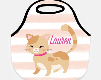 Cat lunchbox, Lunchbox, Lunch bag, Lunch tote, Personalized lunch box, Children's lunchbox, Adult lunchbox, Kitten lunch box, Kitten lunch