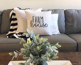 "Farmhouse | pillow cover | 18""x18"""