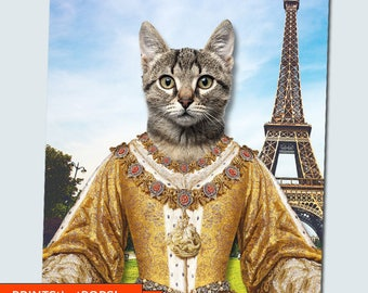 Custom Pet Photo,Your Pet Photo,Cat Pet Memorial,Pet Loss,Pet Lover Gift,Cat Poster,Humorous Pet Portrait,Animal Wall Art,Pet Decor,Vet,Cats