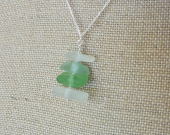 Sea Glass Necklace from the French Riviera