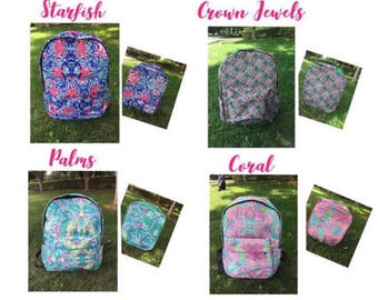 Lilly Pulitzer Inspired Backpacks & Lunchbox