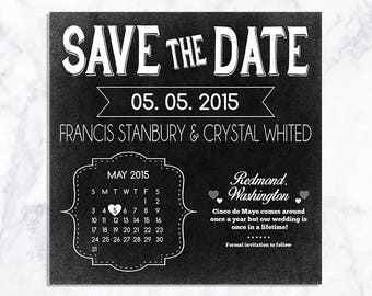 DIGITAL Save the Date Chalkboard