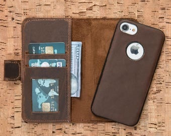 iPhone 6S Wallet Case, iPhone 6S Plus Case, iPhone 6 Case, iPhone 6 Wallet Case, Leather iPhone 6S Cases, iPhone 6S Plus Leather Case-BROWN