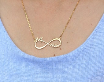 Infinity Name Necklace - Silver Infinity Necklace - Personalized name Necklace - Infinity Name Necklace - Custom Name Necklace