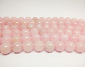 Pink Quartz Beads Rose Quartz Pink Beads Rose Quartz Beads Natural Rose Quartz Rose Beads Jewelry Making Mala Beads Craft Supplies Beading