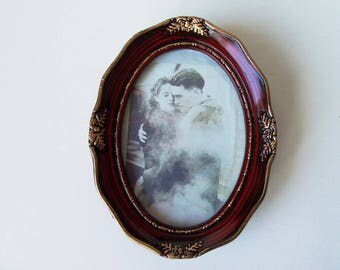 Antique style photo frame with glass  (#EV136)
