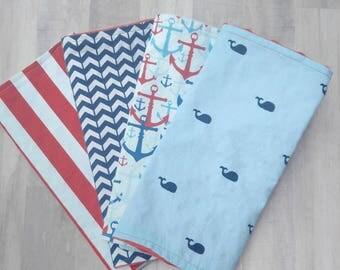 Baby Boy Burp Cloth Set/ Burp Cloth Set/ Burp Cloths/ Baby Boy Gift/Burp Cloth/Burp Rags/Baby Shower Gift/Baby Burp Cloths/Whale Burp Cloths
