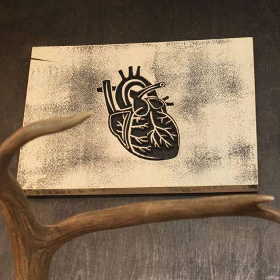 Black Heart Carved Sign