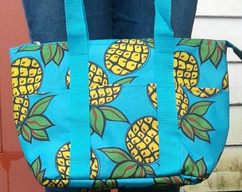 Insulated Pineapple Lunch Tote
