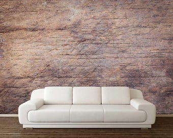 Wooden Wall Mural, Wall Decor, Peel And Stick Wall Decal, Self Adhesive Wallpaper, Wooden Wall