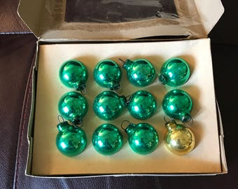 Vintage Mini Shiny Brite Glass Ornaments