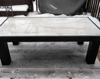 Matte Black Gloss White Table