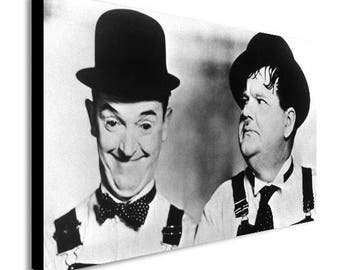 Laurel And Hardy Funny Canvas Wall Art Print - Various Sizes