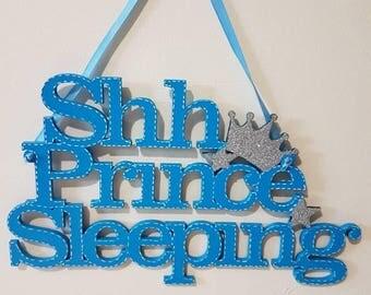 Ssh Princess Sleeping Prince Sleeping Nursery Decor Nursery Decorating Ideas Nursery Wall Art Newborn Baby Boy Wooden Plaques Newborn baby