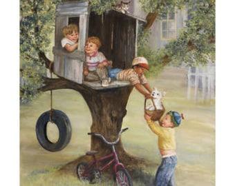 The Tree House - Dianne Dengel Print