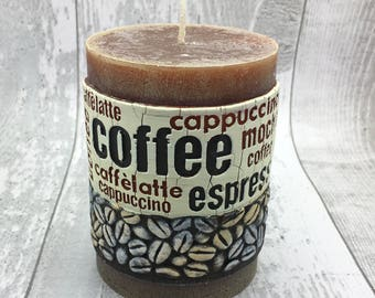 Limited Edition Coffee Pillar Decorative Candle