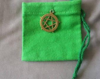 Green Mojo Bag, Mojo Bags, Good Luck, Money, Santeria, Wiccan, Voodoo.