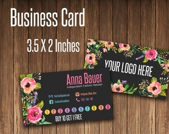 Punch Card, Reward Card, Business Card, Fashion Consultant Card, Home Office Approved Fonts and Colors