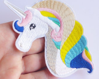 Rainbown unicorn patch large applique magical theme party