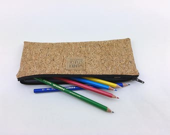 DIY cork-pencil from natural cork with glitter