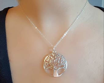 Tree of life silver adornment