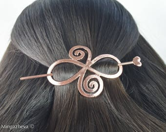 Elegant Hair Pin Flower Infinity Heart Love