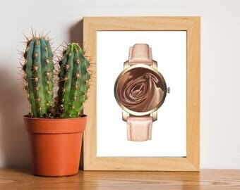Chocolate lover's Watch - Rose gold - chocoholic