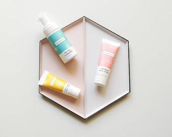 Essential Bundle - Essential skincare set for combination/ oily skin (face scrub, cleanser, face moisturiser)