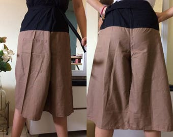Discount 20%--3/4 Soft Cotton Pants, Thai fisherman pants with 1 pocket, free size (see detail).P14