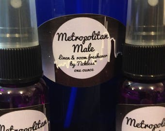 Metropolitan Male Linen & Room Freshener by Tickless* one ounce spray