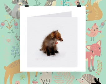 """Watercolour Cards - """"The Wild Wood"""" Fox Cub Two"""
