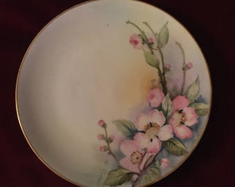 Nippon Noritake M Antique Signed Hand Painted Dogwood Flowers