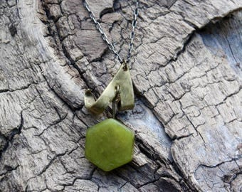 New Jade Brass Necklace
