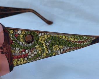 Vintage JUDITH LEIBER Rhinestones GLAMOUR jl142002 Sunglasses Discontinued