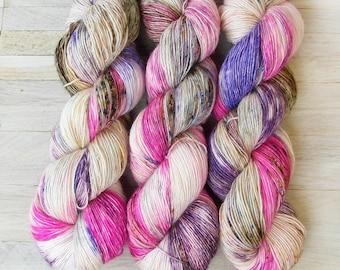 Hand Dyed Sock Yarn Superwash Merino - Single Merino Wool - Speckled yarn merino - Yarntoyou  - SKINNY MERINO - Sweet Laughter