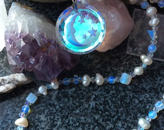 Crystal Moon - Pearl Necklace Christmas Sale