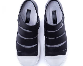 NEW Low top Sneakers/Sneakers/Sport shoes/Genuine Leather/Orthopedic shoes /Extravagant sandals/Black shoes
