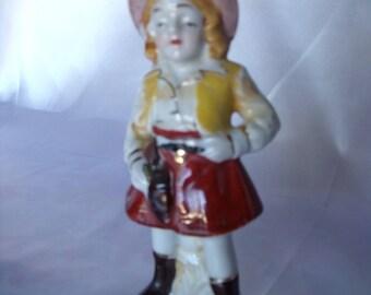 Occupied Japan Figurine, Cowgirl?