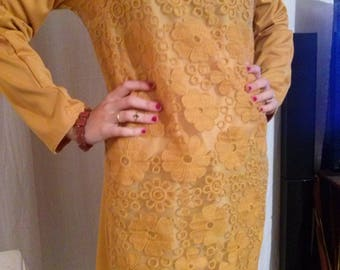 Front lace long sleeve dress