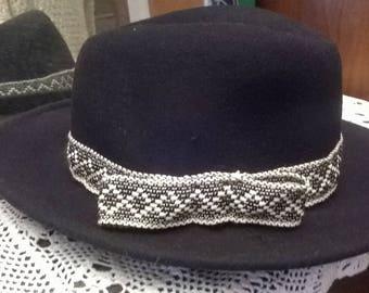 Black felt hats
