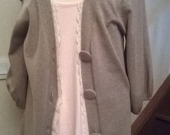 Sleeves three quarter viscose color taupe