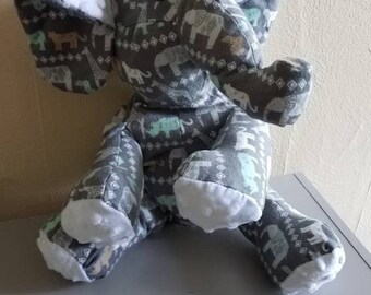 Handmade Elephant Stuffed Animal - Keepsake