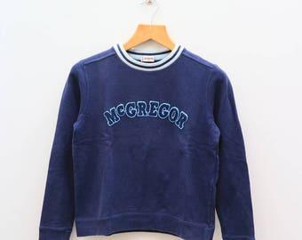 Vintage McGREGOR Big Spell Blue Sweater Sweatshirt Size M