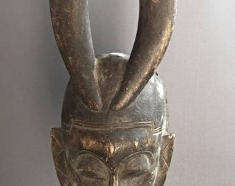 African art mask - 48 cm - very old Yohoure