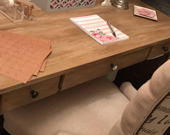 """Painted Pottery Barn """"Toulouse""""  Writing Desk Replica"""