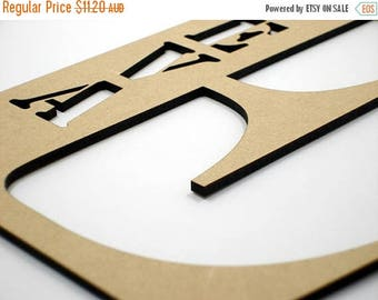20% OFF 20cm Stencil MDF Wood Wooden Letters 3mm Thick